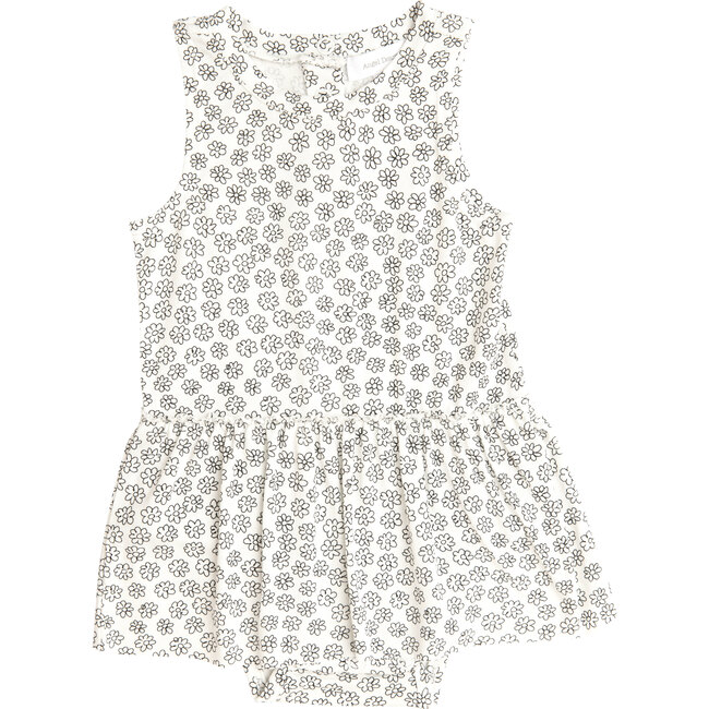 Doodle Daisy Bodysuit with Skirt, White