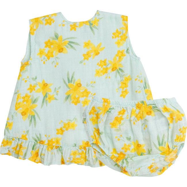 Daffodils Ruffle Top and Bloomer, Mint
