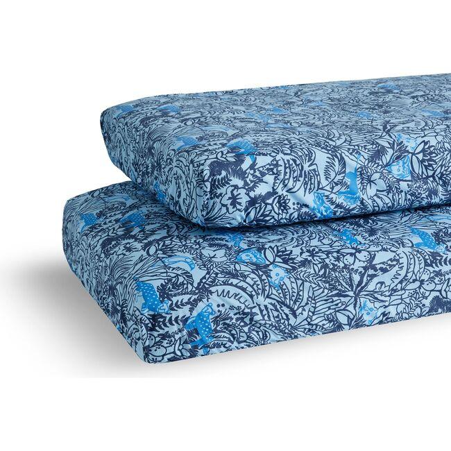 Jungle Crib Sheet Set, Blue