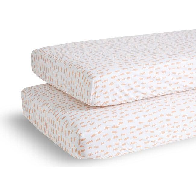 Sprinkles Crib Sheet Set, Pink