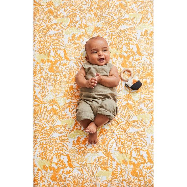 Jungle Crib Sheet Set, Orange