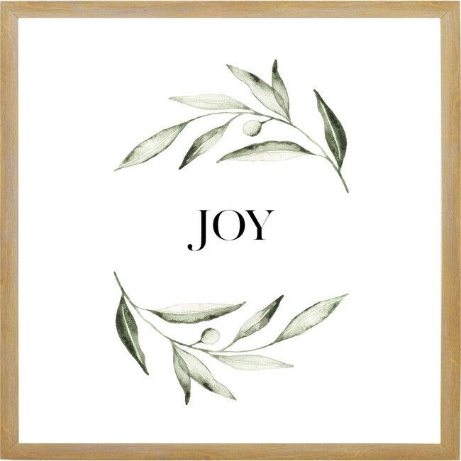 Joy Wreath Sign, Farmhouse Brown Frame