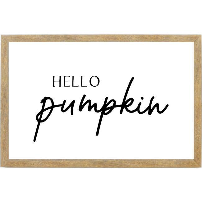 Hello Pumpkin Sign, Farmhouse Brown Frame