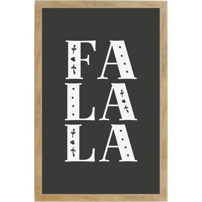 Fa La La Sign, Farmhouse Brown Frame