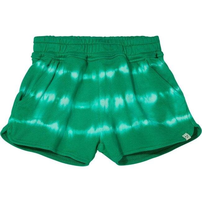 Holiday Knit Shorts, Green Tie Dye