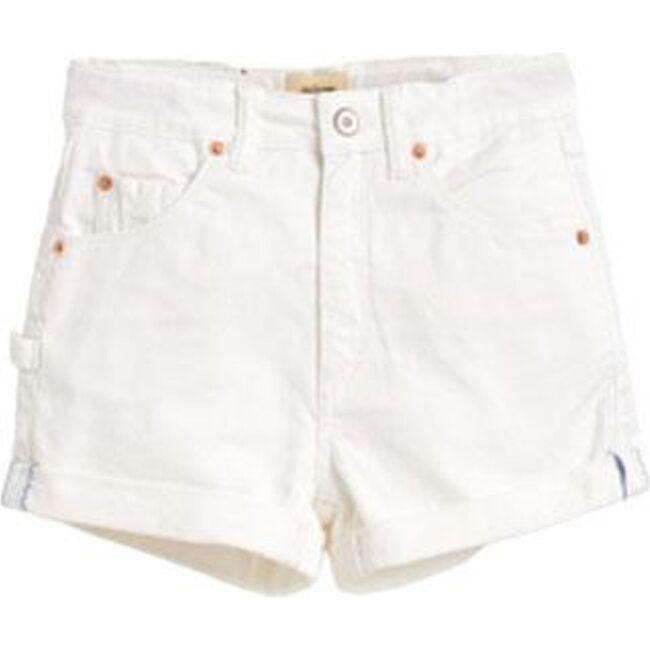 High Wasted Shorts, Ecru
