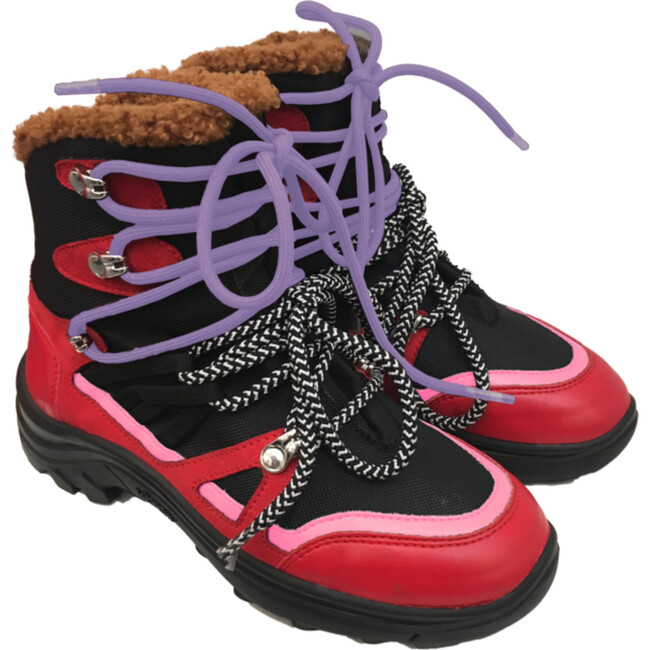 Hiking Boots, Red