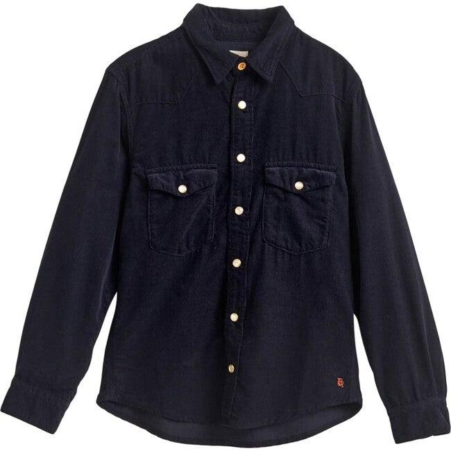 PEI Velvet Shirt, Navy