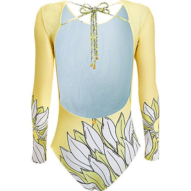 Women's Surf One Piece, Le Fleurs Citron Lime