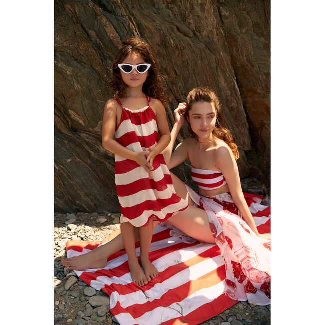 Oli Cover Up Dress, Red Capri