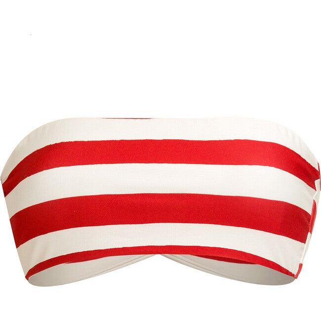 Women's Andrea Bikini Top, Red Capri