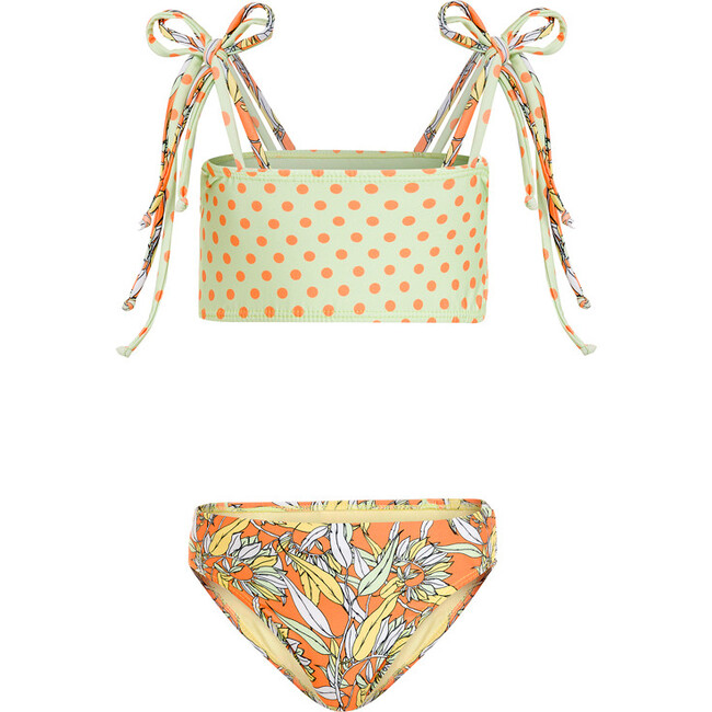 Mila Bikini Le Fleurs Mint & Orange