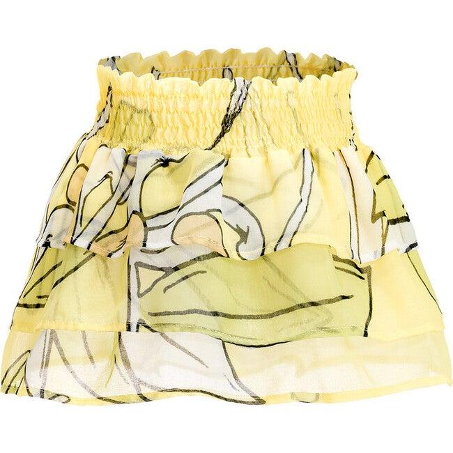 Lulu Skirt, Le Fleurs Citron Lime