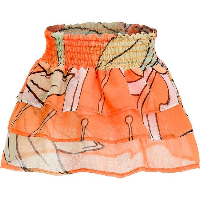 Lulu Skirt, Le Fleurs Mint & Orange
