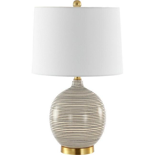 Kremp Table Lamp, Black/White Stripe