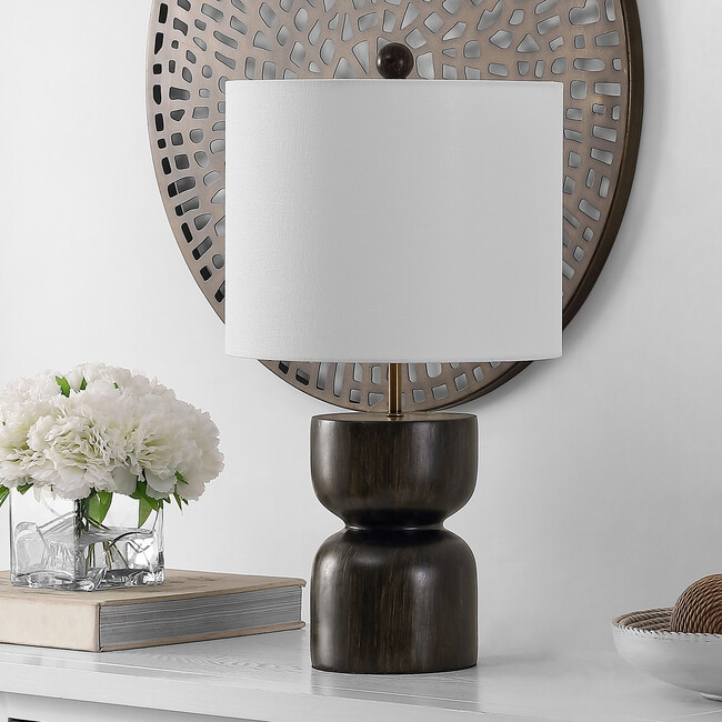 Lastra Table Lamp, Brushed Metal