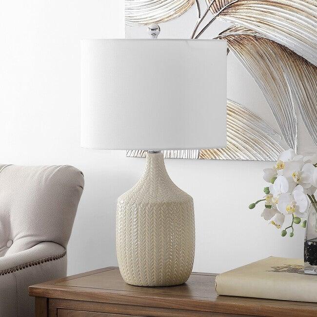 Secia Table Lamp, Cream