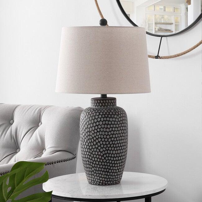 Jerlen Table Lamp, Charcoal