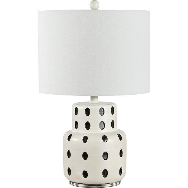 Kencia Table Lamp, Black Polka-Dot - Lighting - 1