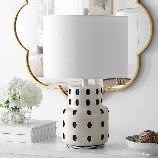 Kencia Table Lamp, Black Polka-Dot