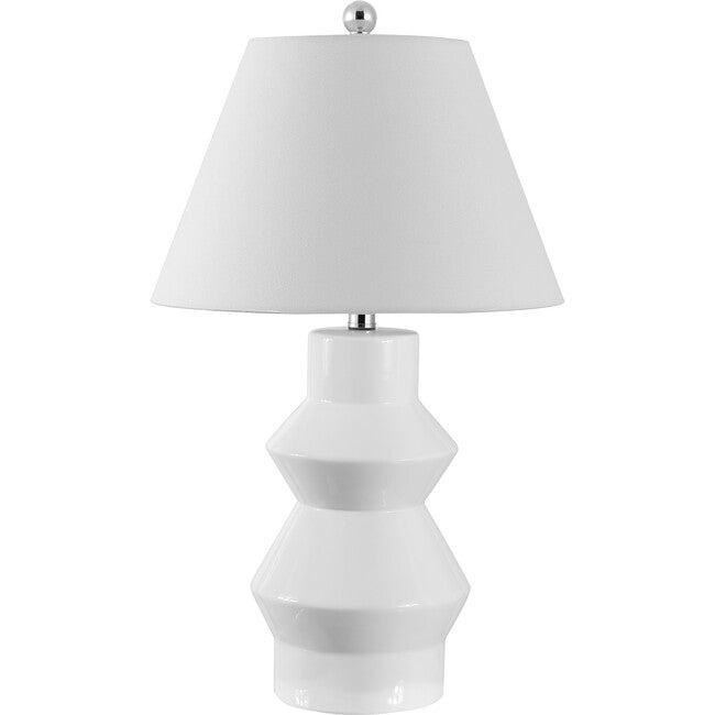 Larcia Table Lamp, White