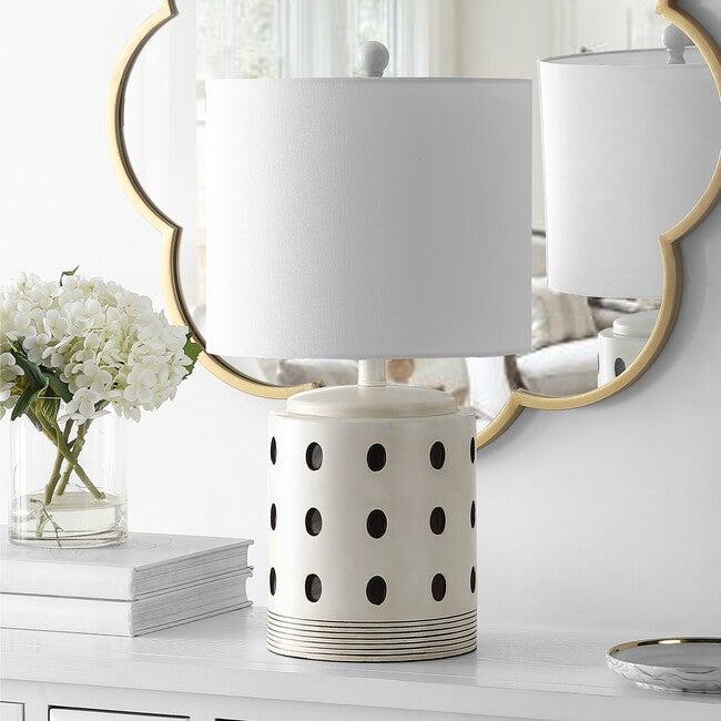 Lenis Table Lamp, Black Polka-Dot