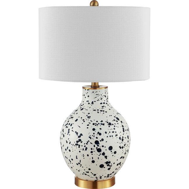 Krew Glass Table Lamp, White/Blue - Lighting - 1