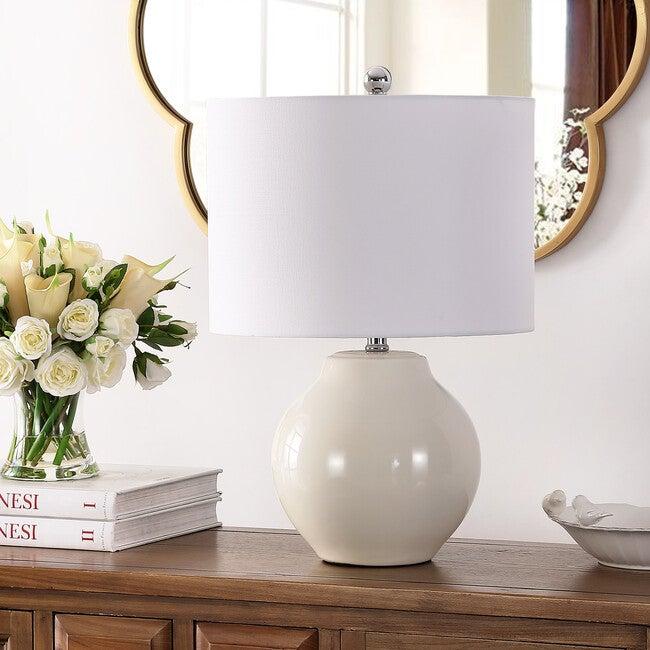 Zaid Resin Table Lamp, Cream