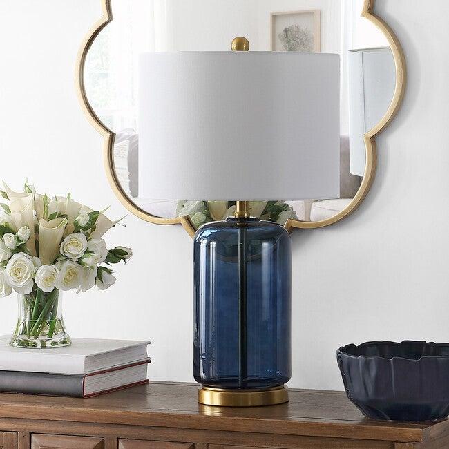 Novah Table Lamp, Blue