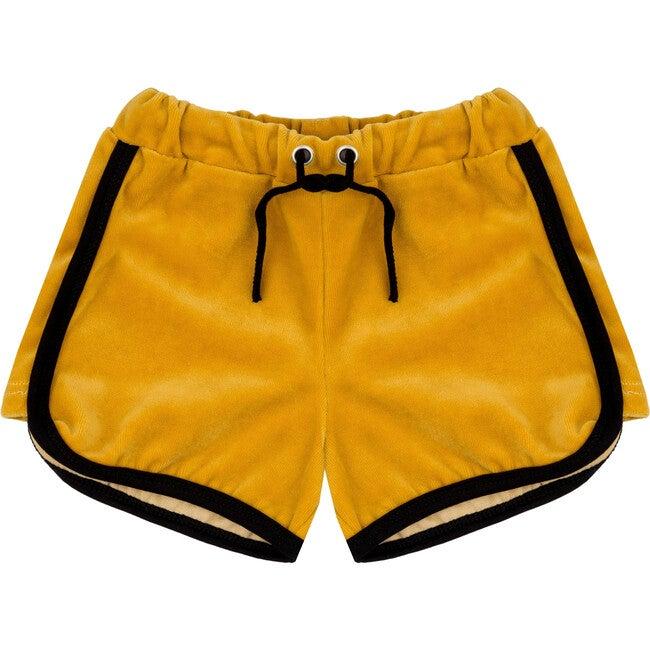 Velour Retro Shorts Golden Gator Yellow