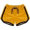 Velour Retro Shorts Golden Gator Yellow - Shorts - 1 - thumbnail