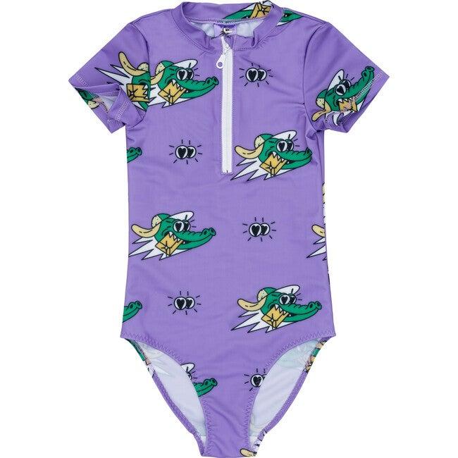 Swimsuit Golden Gator Purple