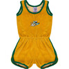 Velour Jumpsuit Golden Gator Yellow - Rompers - 1 - thumbnail