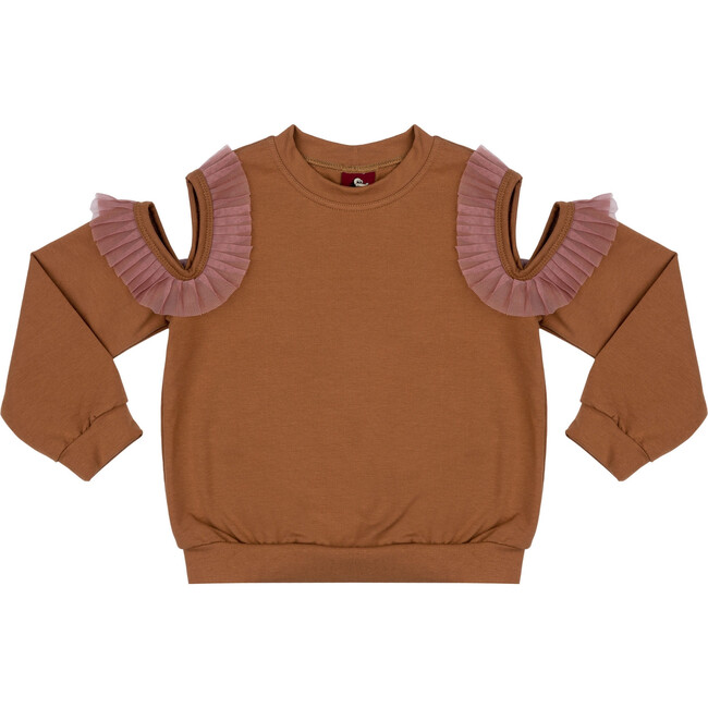 Shoulderless Sweatshirt Gold Rush
