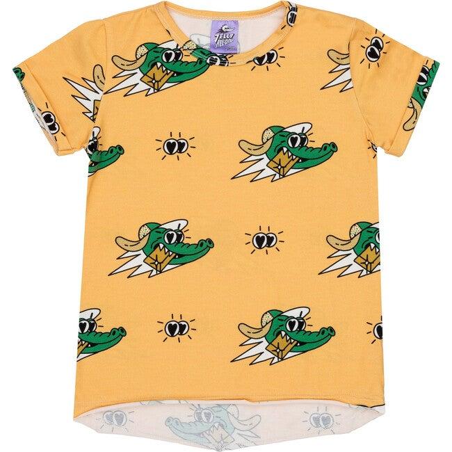Short Sleeve T-Shirt Golden Gator Yellow