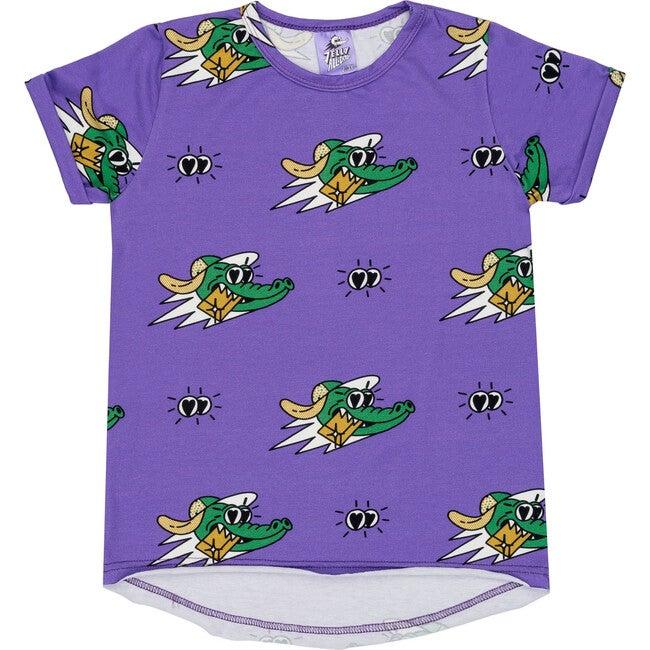 Short Sleeve T-Shirt Golden Gator Purple