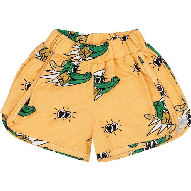 Retro Shorts Golden Gator Yellow - Shorts - 1