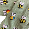 Rainbow Bees Footed Tights, Light Green - Tights - 2