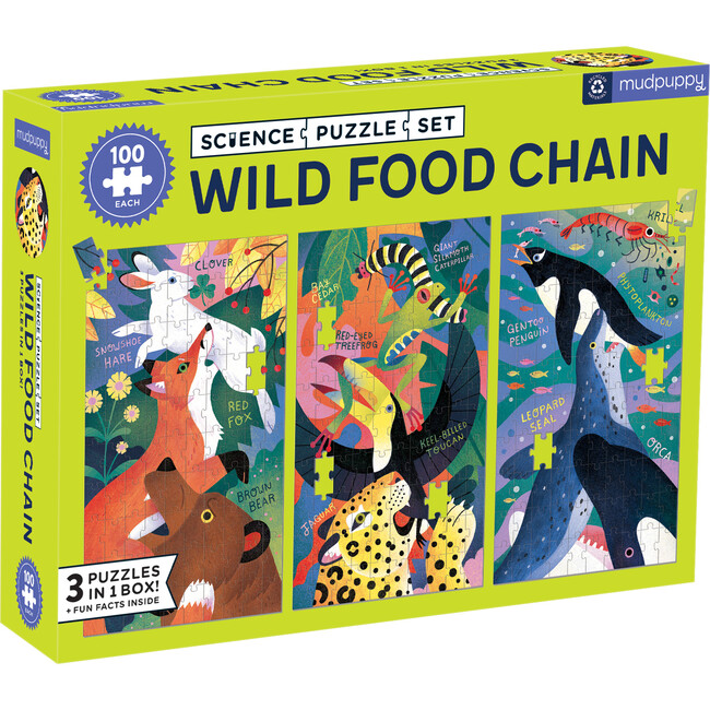 Wild Food Chain Science Puzzle Set