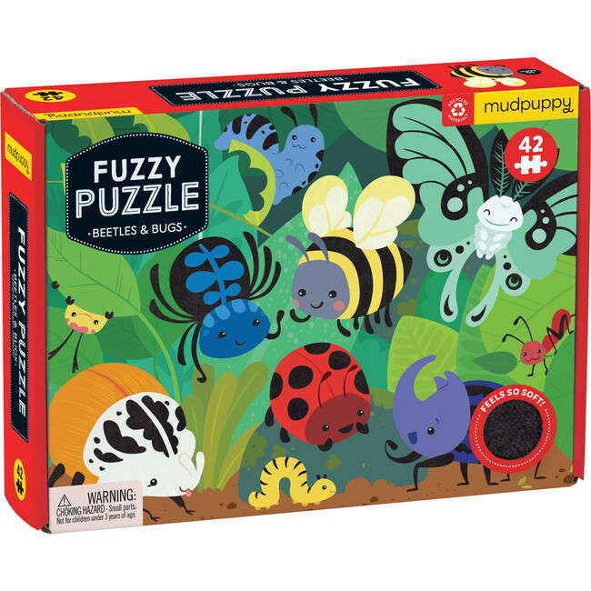 Beetles & Bugs Fuzzy Puzzle