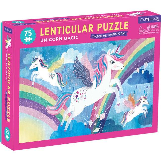 Unicorn Magic 75 piece Lenticular Puzzle