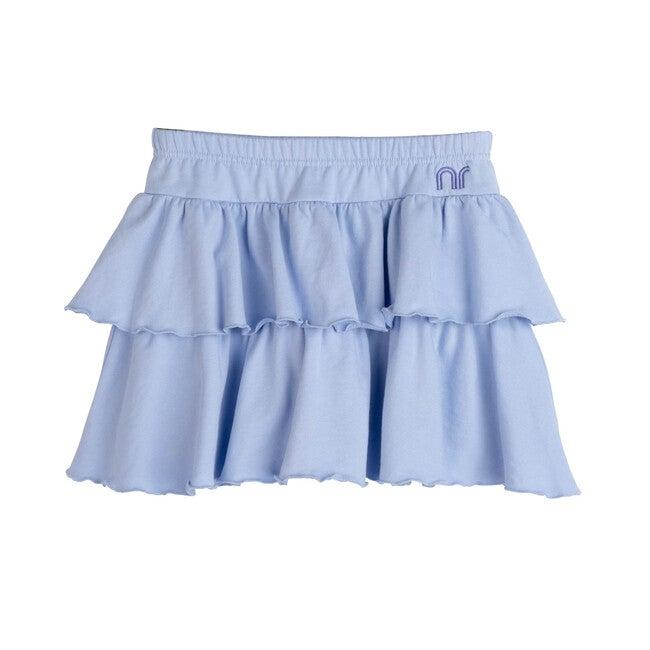 Courtney Ruffle Skirt, Xenon Blue