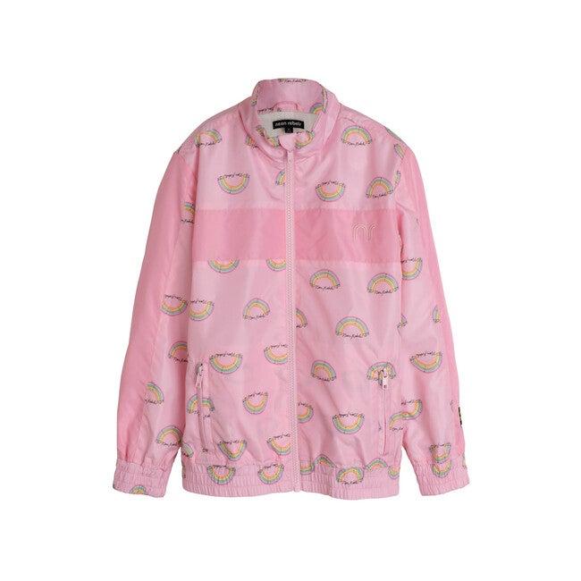Stevie Track Jacket, Pink Salt Rainbow