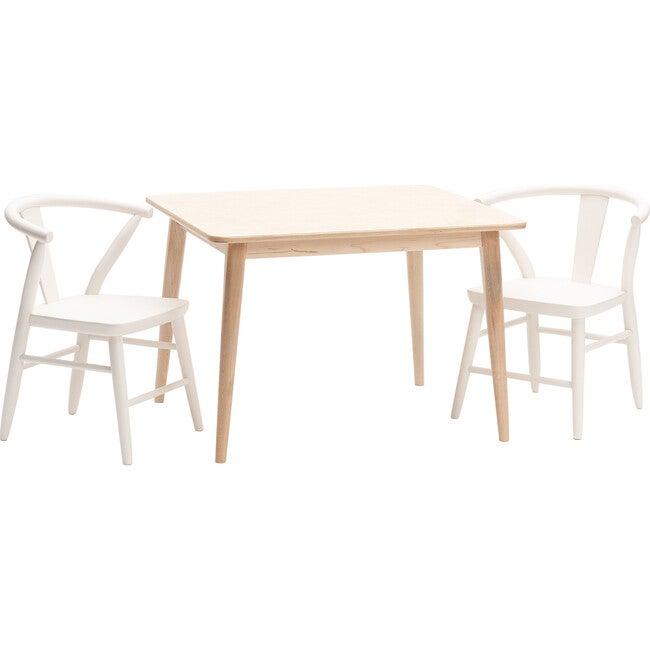 Crescent Chairs Pair, White