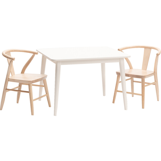 Crescent Chairs Pair, Natural