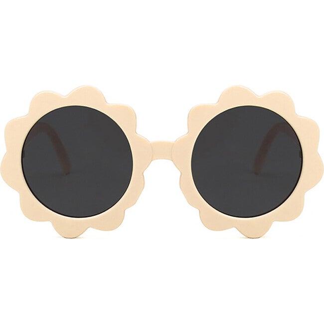 Round Sunburst Sunglasses, Sand
