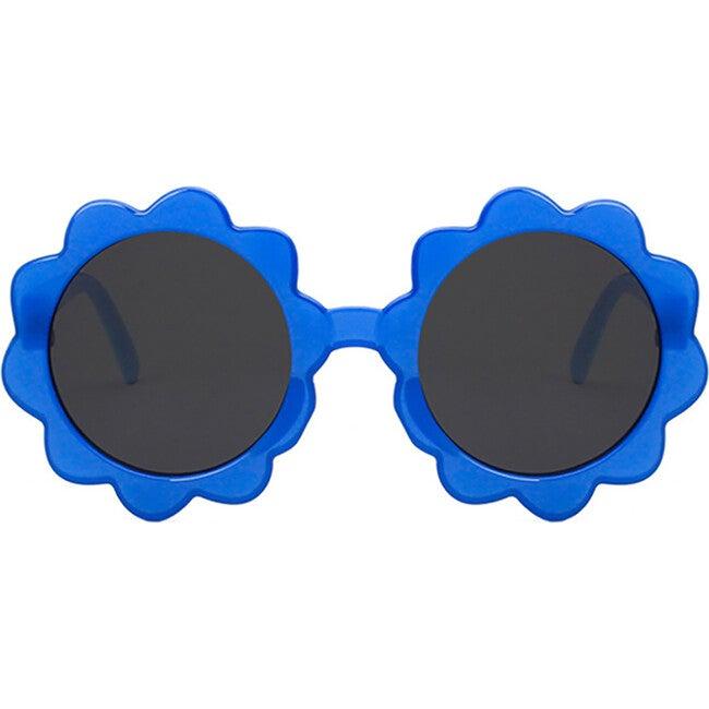 Round Sunburst Sunglasses, Sea Blue