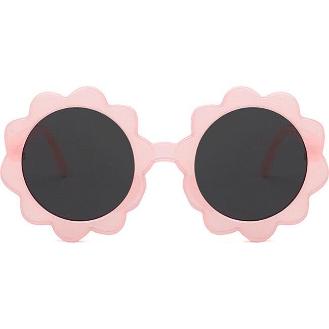 Round Sunburst Sunglasses, Cloud Pink
