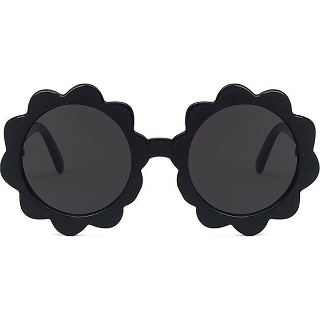 Round Sunburst Sunglasses, Black