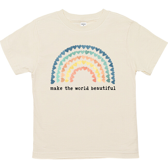 Make The World Beautiful Unbleached Toddler Tee